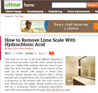 Removing Lime Scale With Hydrochloric Acid